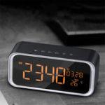 Оригинал LED Цифровой будильник Часы с Bluetooth Музыкальный динамик Температура Время Календарь Дисплей Электронный HIFI Домашний офис Таблица Часы