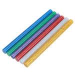 Оригинал 10Pcs 7mmx100mm Colorful С блестками Горячий расплавленный клей Палка Colorant DIY Crafts Repair Model Adhesive Stic