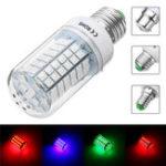 Оригинал 9W E27 B22 E14 5050 SMD Non-dimmable LED Кухонная лампа пятно Лампа Red Green Blue AC110V