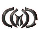 Оригинал 6 шт. Комплектная арка Matte Matte Авто Брызговики для FORD Ranger T7 PX MK2 ABS