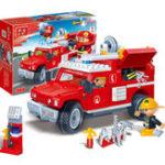 Оригинал  BanBao 8316 Fire Fighting Truc 242PCS Блоки Игрушки для строительства Кирпичи, совместимые с Le go