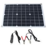 Оригинал 20W 12V / 5V 42 * 28 см DC Монокристаллический Солнечная Панель с DC5521 Батарея Clip