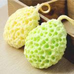 Оригинал HonanaБатоннаясеткадляванныКисти Губки Аксессуары для ванной тела Body Wisp Natural Sponge Dry Щетка Оборудование для очистки отшелушив