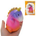Оригинал Gigglebread Dinosaur Unicorn Squishy 7.5 * 6.5 * 11.5CM Медленный рост с подарком коллекции упаковки