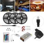 Оригинал 15M Non-водонепроницаемый SMD5050 RGB Alexa APP Главная Wifi Управление Smart LED Полоса свет Набор AC110-240V