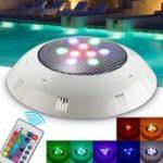 Оригинал 9W RGB Дистанционное Управление LED Плавание Бассейн Легкий подводный Водонепроницаемы Настенный ночной свет