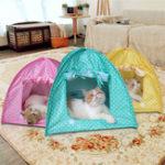 Оригинал Складной Pet Кот Палатка, играющая Bed House Kitty Camp Водонепроницаемы На открытом воздухе Собака Питомник