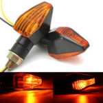 Оригинал 12V Universal мотоцикл Индикатор байкового сигнала поворота Turn Lights Лампа Bulb Blinker