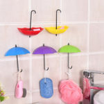 Оригинал Honana3штColorfulЗонтShapedТворческий Вешалка Декоративный держатель Пастель стены Крюк Для кухни Ванная комната Набор аксессу