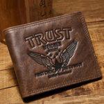 Оригинал МужчиныНатуральнаяКожаМодныеповседневныемногокарточные слоты Trifold Short Wallet