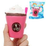 Оригинал Клубничный кубок мороженого Squishy 12 см Медленный рост с подарком коллекции упаковки Soft Toy
