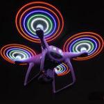 Оригинал 2Pcs Colorful Вспышка LED Зажимное устройство Propeller 9450 Blade Перезаряжаемый для серии DJI Phantom 4/4 Pro