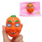 Оригинал Pumpkin Squishy 7.5 * 9.5CM Медленный рост с подарком коллекции упаковки Soft Toy
