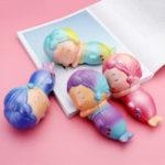 Оригинал Mermaid Squishy 16.5 * 8.2CM Медленный Восходящий ребенок Декомпрессионная игрушка Soft Подарок