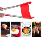 Оригинал Барбекю2-в-1Складнойкухонныйшпательи барбекю Tong Non-Stick из нержавеющей стали Раковина кухни Tongs