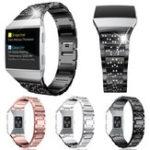 Оригинал 16 мм Сменный сплав из нержавеющей стали Смотреть Стандарты Ремень с Коннектор для Fitbit Ionic