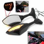 Оригинал Пара мотоцикл LED Стрелка Поворотная сигнальная лампа заднего вида для Honda / Suzuki / Kawasaki/Yamaha