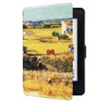 Оригинал ABS Пластиковые Пшеничные Поля Окрашенные Умный Сон Защитная Обложка Чехол Для Kindle Paperwhite 1/2/3 eBook Reader