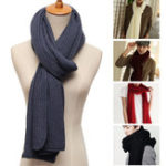 Оригинал Cotton Knitting Stretchable  Scarf Mens Womens Soft Scarves