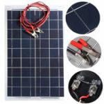 Оригинал 12V 30W PolyCrystalline Солнечная Панель с 4-миллиметровым зажимом аллигатора Провод DIY Солнечная Ячейки Батарея Зарядное устройство