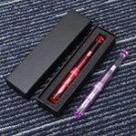 Оригинал Penbbs 323 Прозрачная иридиевая точка 0,5 мм Fine Nib Ink Fountain Pen с черным Коробка Написание расходных материалов
