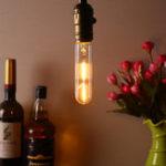 Оригинал T10 E27 1.8W Теплый белый 200LM COB LED Ламповый накаливания Retro Edison Лампа AC85-265V