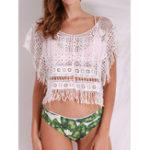 Оригинал Пляжный Сексуальный Tassel Knitting Hollow Cover-Ups Купальник