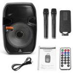 Оригинал 15 дюймов Bluetooth Портативный диктор KARAOKE DJ Square с LED подсветкой Микрофон