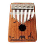 Оригинал Джонас 17 клавиш Фингер Калимба Thumb Piano Mahogany Wood African Percussion Музыкальные подарки