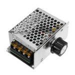 Оригинал AC 220V SCR Регулятор напряжения 4000W Dimmer Electric Мотор Модуль контроллера скорости