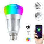 Оригинал E27 B22 7W RGB + W WiFi APP Smart Светодиодный Работа лампы с Echo Alexa Google Главная AC85-265V