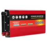 Оригинал 12В до 220В Солнечная Инвертор 3000 Вт Инвертор с двойной турбиной Система охлаждения инвертора