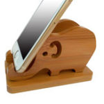 Оригинал Универсальный деревянный слоновый держатель для настольных кронштейнов для iPhone 8 X Xiaomi Mobile Phone
