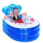Оригинал 145x80x45CMСкладная надувная ванна Портативная Для взрослых с воздухом Насос Steam Spa Сауна Ванна для ванны