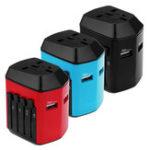 Оригинал Двойной USB Универсальный адаптер питания переменного тока адаптер Разъем Plug Converter UK / US / EU / AU