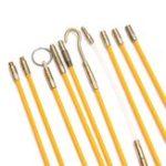 Оригинал 10Pcs 1Mx4mm Кабель для кабеля с кабелем для стекловолокна Провод Набор Монтажный стержень коаксиального электрического кабеля