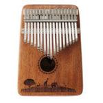 Оригинал Джонас 17 клавиш Фингер Калимба Thumb Piano Африканский перкуссия Mahogany Wood Музыкальный инструмент