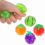 Оригинал Случайный цвет Squishy Fruit Stress Relief Toy Squeeze Stressball Party Сумка Fun Gift Funny