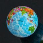 Оригинал Mini 7.5cm Foam World Globe Teach Education Geography Toy Map Воздушный шар Пляжный Модель шарика