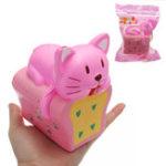 Оригинал Хлеб Кот Squishy 9 * 12CM Медленный рост с подарком коллекции упаковки Soft Toy