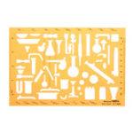 Оригинал Химическая лаборатория Экспериментальные символы Шаблон рисунка KT Soft Пластиковый линейка Дизайн Трафарет