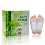 Оригинал 50Pcs Foot Patches Pads Bamboo Vinegar Detox Похудение