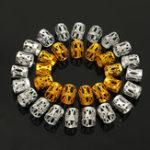Оригинал 100Pcs 8mm Dreadlock Плетение из бисера Braid Манжеты Трубы Волосы Клипы Смешанные золотые серебряные дреды