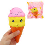 Оригинал Smile Ice Cream Squishy 16 * 7.5CMSlow Rising With Packaging Collection Gift Soft Игрушка
