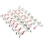 Оригинал 25Pcs 50mm Длина Pegboard Hooks Board Slat Wall Retail Дисплей Магазин Peg Home Hook