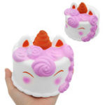Оригинал Unicorn Cake Squishy 12 * 12CM 118G Slow Rising Collection Gift Soft Игрушка