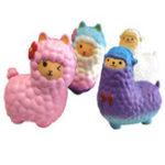 Оригинал 16CM Jumbo Squishy Cute Alpaca Galaxy Super Slow Rising Ароматические забавные игрушки для животных