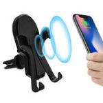 Оригинал Универсальный Qi Беспроводная зарядка 360 градусов вращения Авто Держатель для мобильного телефона для мобильного телефона Samsung