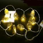 Оригинал Батарея Оперированный Золотой Фанос Фонарь 10 LED String Fairy Holiday Light для вечеринки Домашнее украшение