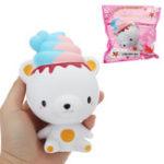 Оригинал Ice Cream Bear Squishy 13 * 8.7 * 7.8 CM Медленное восхождение с подарком коллекции упаковки Soft Toy